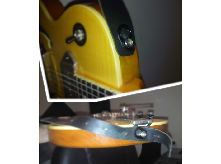 Strap Lock for Guitar and Bass 3d printed