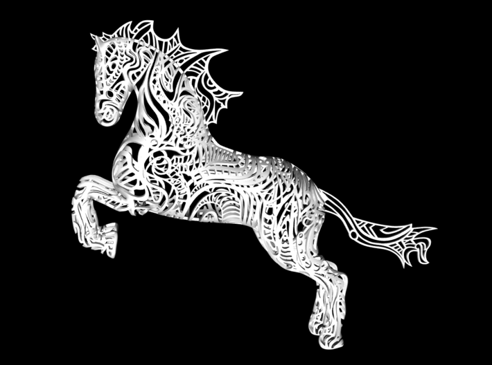 Rocinante horse sculpture - Customized 3d printed Rocinante horse sculpture - Customized