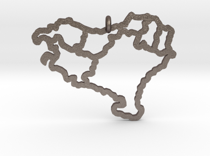 Basque Pendant (Steel) 3d printed