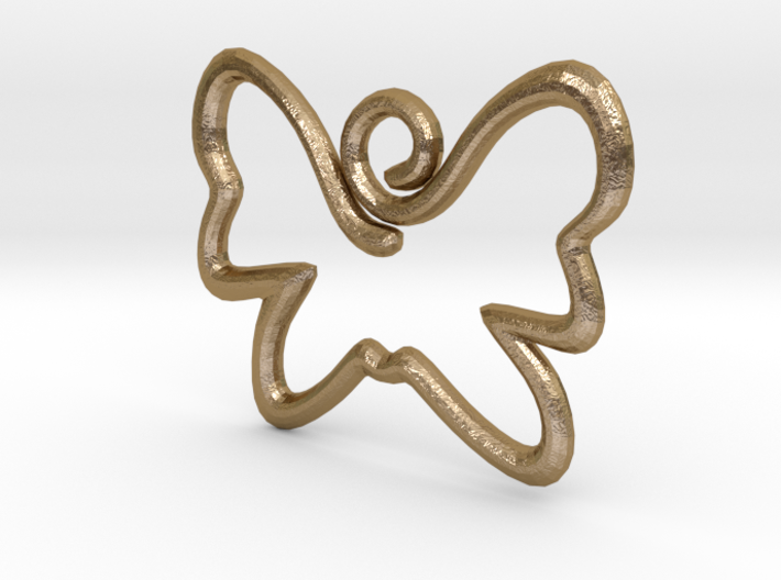 Swirly Butterfly Pendant 3d printed