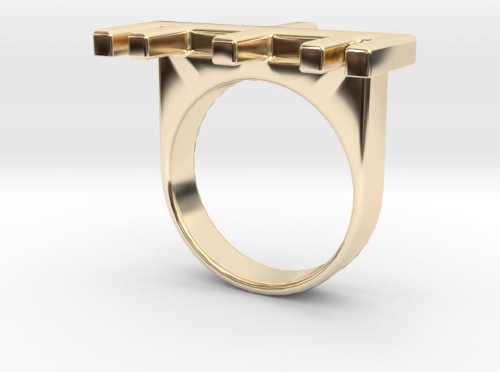 Dad Ogham Ring 3d printed