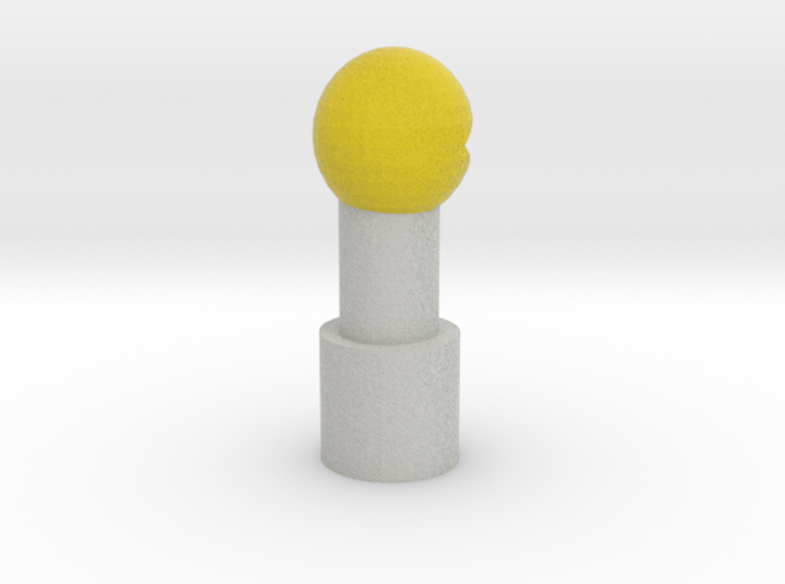 Pac-Man Pencil Topper 3d printed