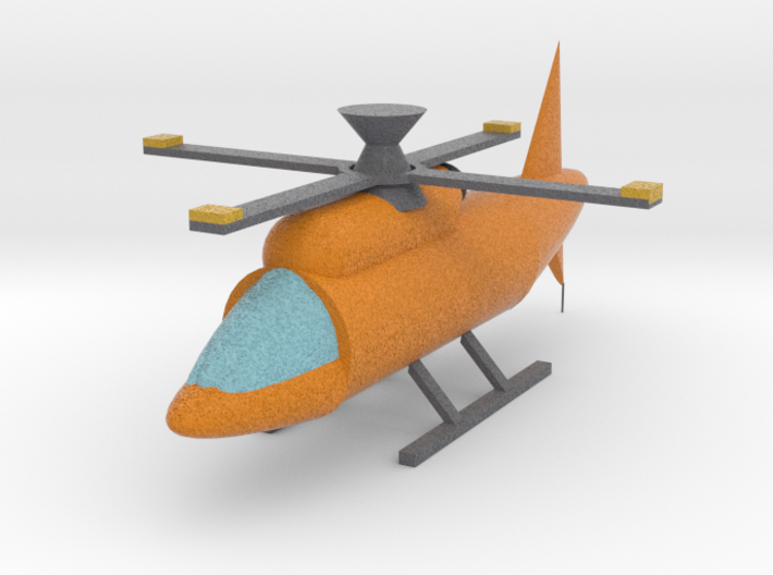 Helicopter With Moving Rotor 3d printed