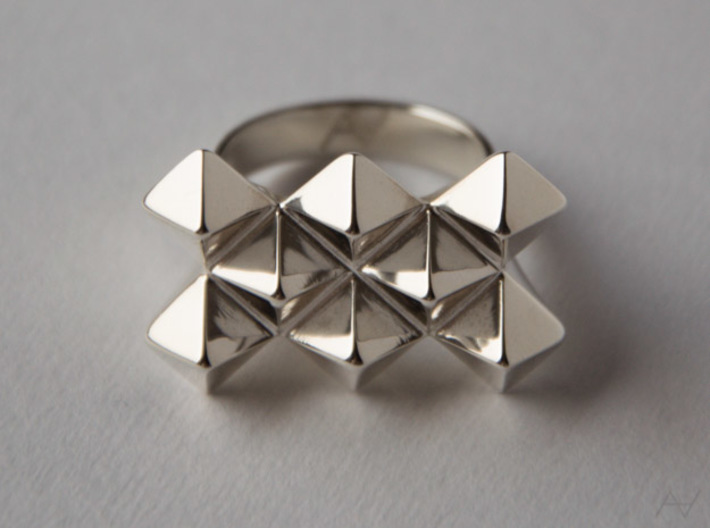 Bugnato Ring 3d printed