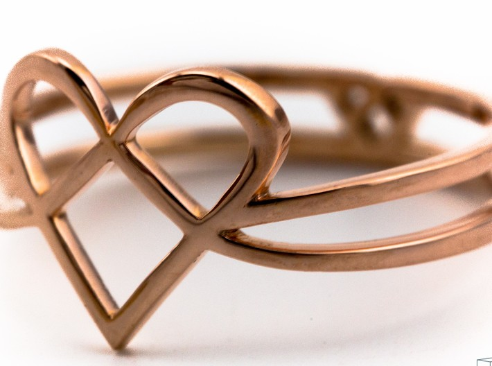 Woven Heart collection: ring 3d printed