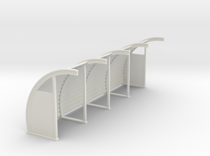 Quonset 4 Panel 8ft - 72:1 Scale 3d printed