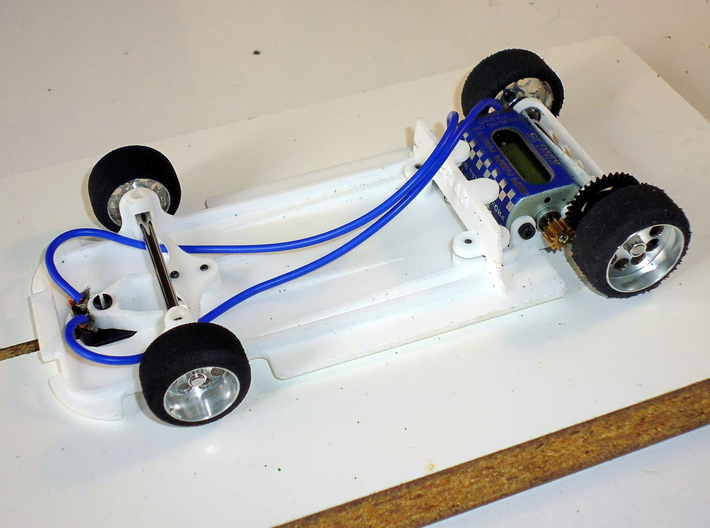 Slot car chassis for GT40 (IW) 1/28 3d printed