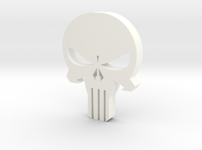 Punisher Skull 3d printed