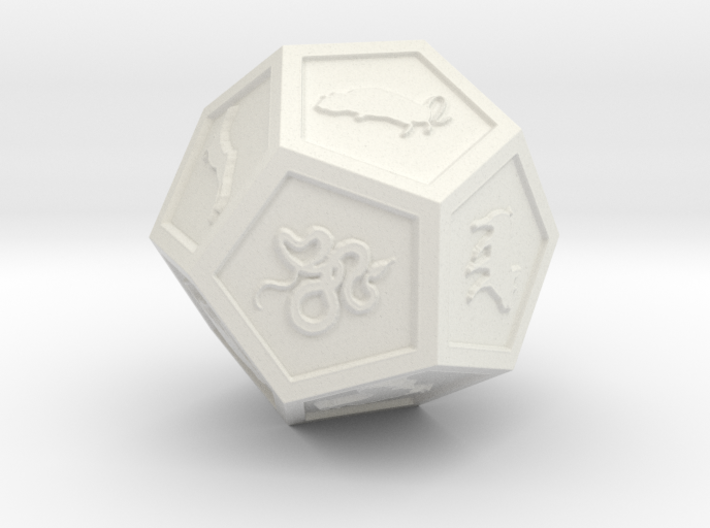 Dodec chinese zodiac 3d printed