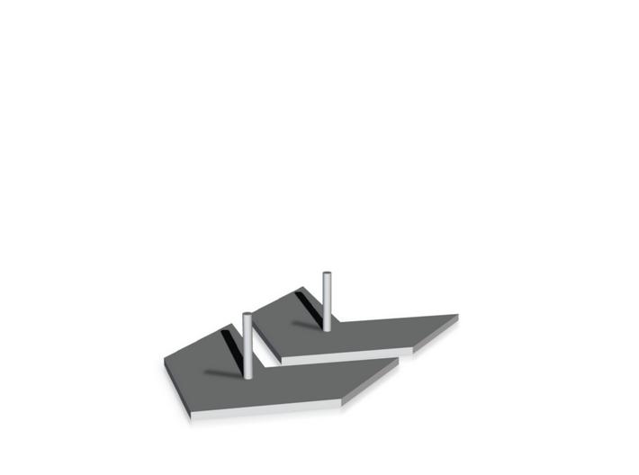 Earrings - Arrow (E/0001) 3d printed