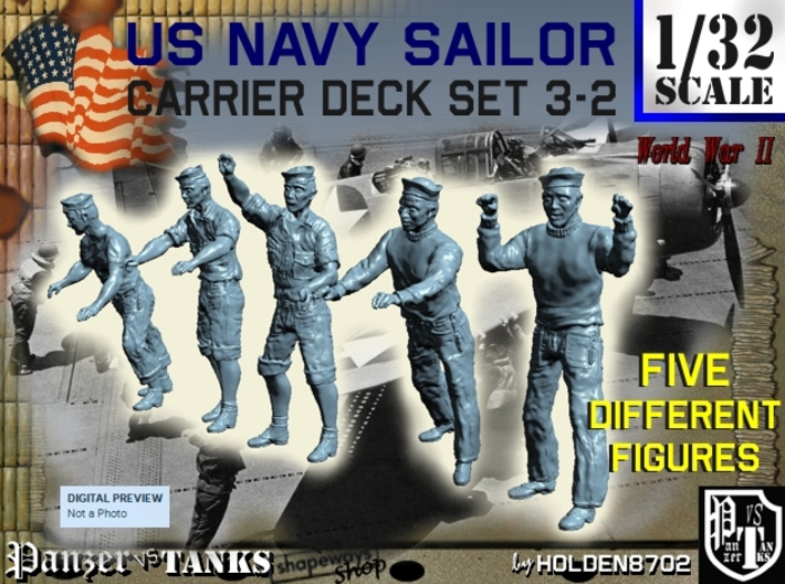 1-32 US Navy Carrier Deck Set 3-2 3d printed