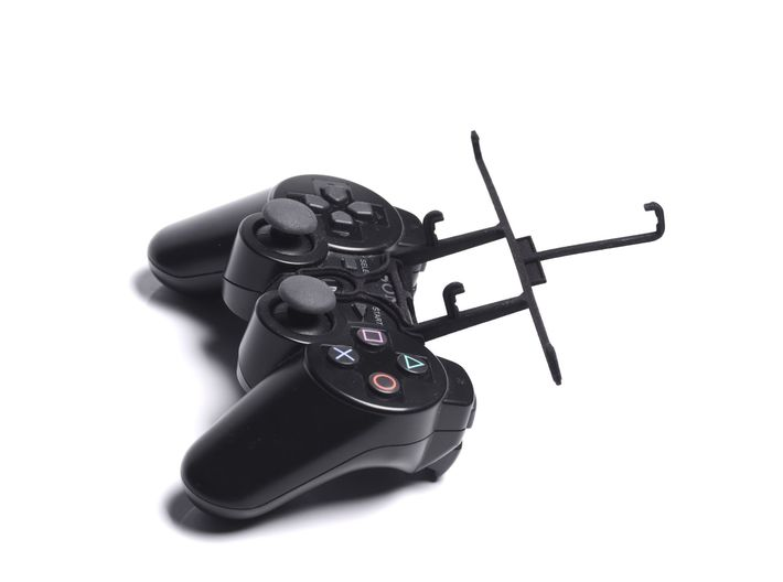 PS3 controller & Lava A67 3d printed Without phone - A Samsung Galaxy S3 and a black PS3 controller