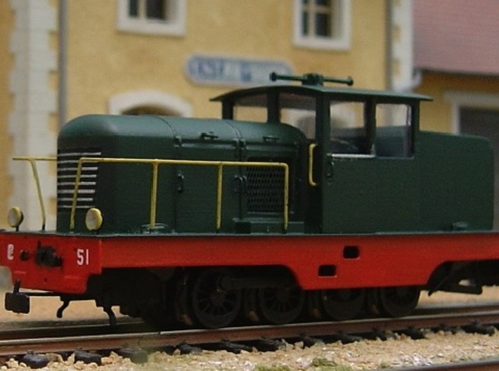 CP51 with side doors HOm/HOe 1:87 3d printed finished protype! Actual model has slightly taller cab.
