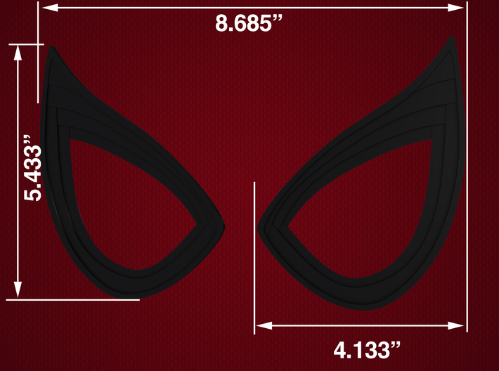 Civil War Spider-Man Static Lens Frames 3d printed
