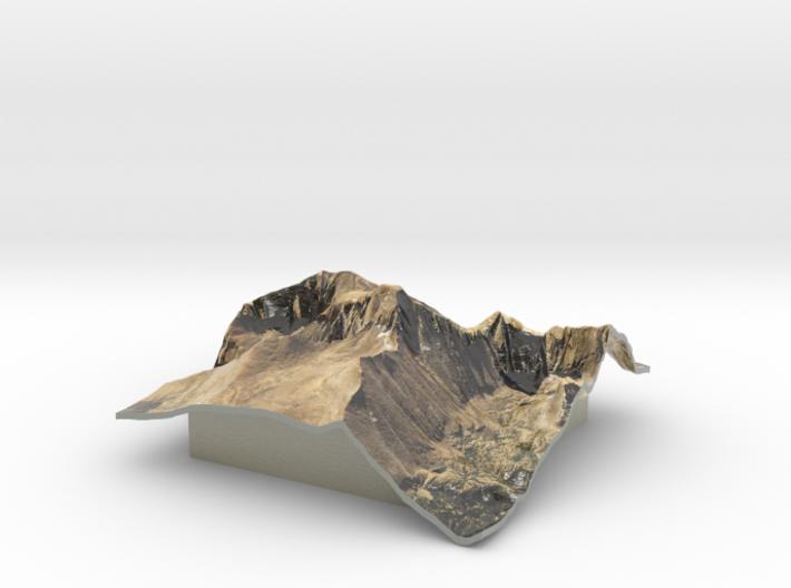Longs Peak Map 3d printed