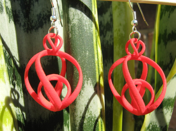 Clelie 1x2 Earrings 3d printed