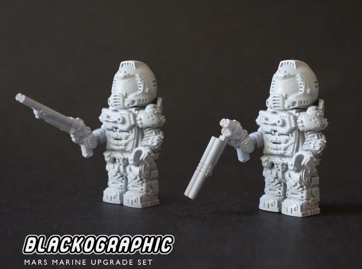 Mars Marine Upgrade Set 3d printed Articulated super shotgun, be careful in assembly!