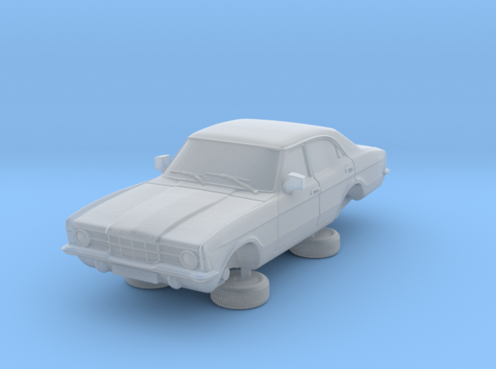 1-87 Ford Cortina Mk3 4 Door Standard Single Hl 3d printed