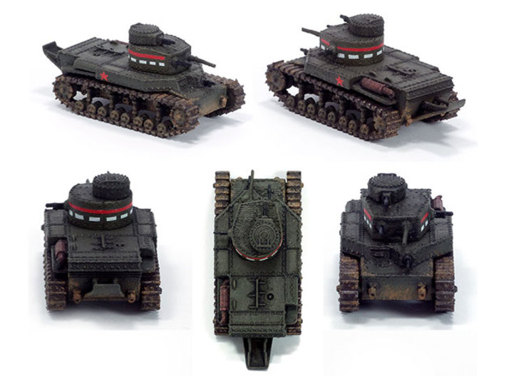 T24 Medium (1932) - 15mm 3d printed Here is the T-24 in 1:100 scale, printed in WSF.