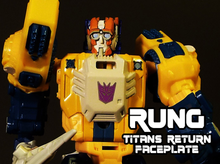 Rung Faceplate (Titans Return-Compatible) 3d printed Hand painted frosted ultra detail