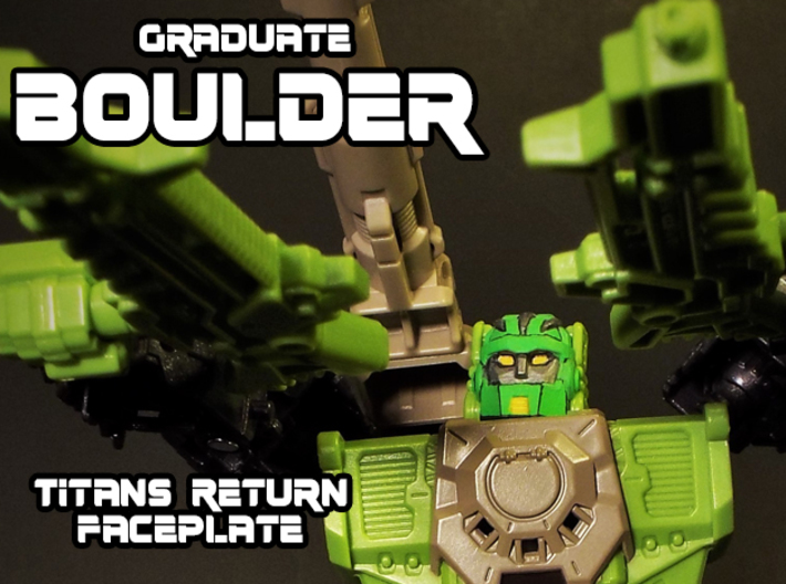 Graduate Boulder Faceplate (Titans Return) 3d printed Hand Painted frosted ultra detail
