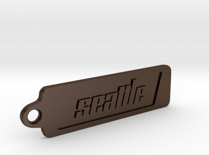 Seattle, Washington Keychain 3d printed