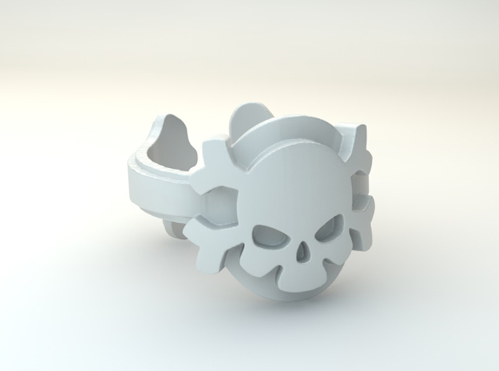 My Skull Ring Design Ring Size 6.75 3d printed