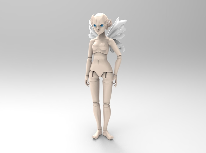 Fairy BJD: Light Fairy Mini Doll 3d printed