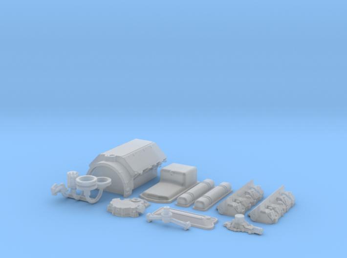 1/18 Scale Buick Nailhead Basic Block Kit 3d printed