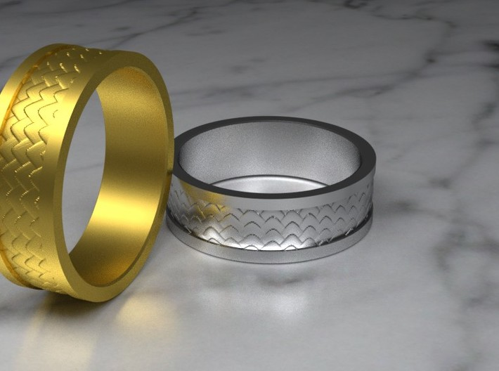 Dragon Scale Band 3d printed