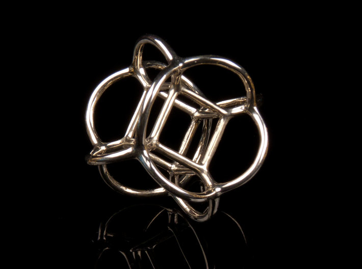 Soap Bubble Cube (from $12.50) 3d printed Printed in Polished Silver