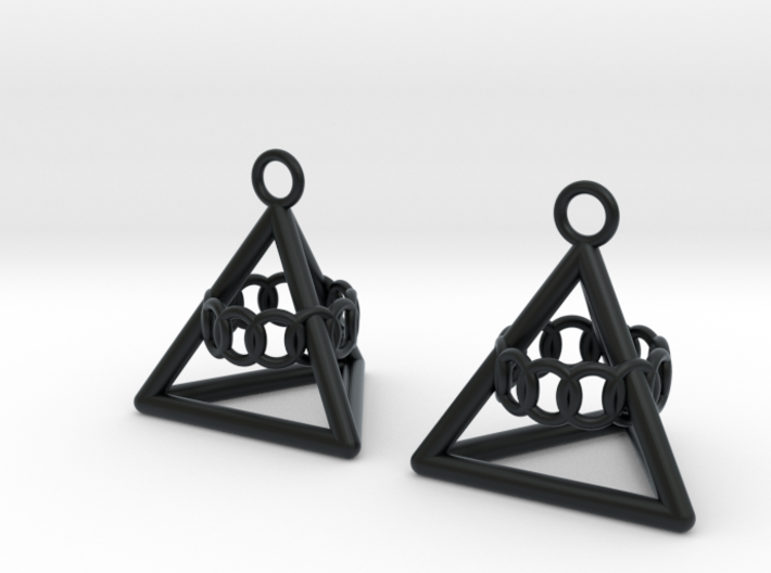 Pyramid triangle earrings serie 3 type 6 3d printed