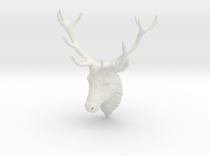 Deer Head Wall Mount 3d printed