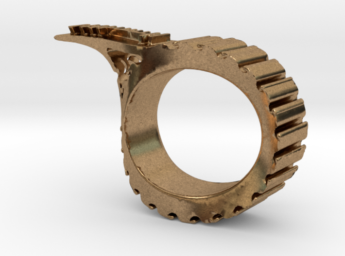 One Ogham Om Ring 3d printed