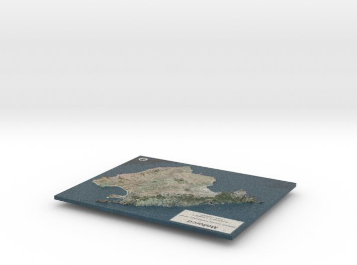 Mallorca Map - True Color w/Labels 3d printed