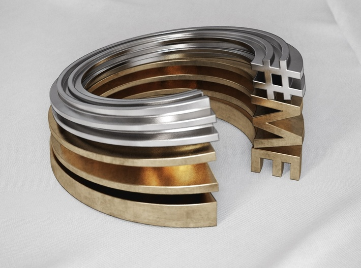 N Letter Ring 3d printed
