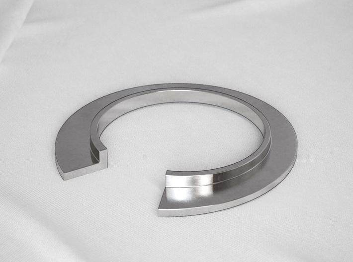 L Letter Ring 3d printed