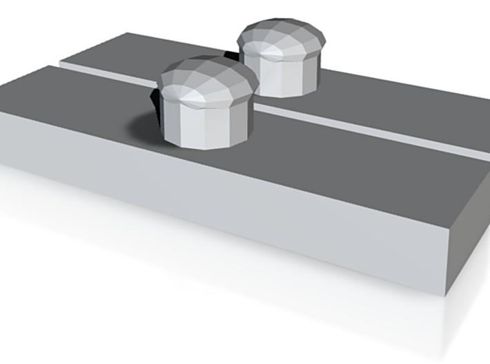 CERAMIC LACE LOCK BUTTON 3d printed