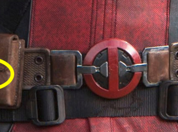 Deadpool Pouch Buckle 3d printed
