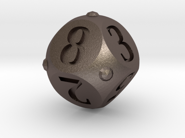Round Roller Dice 3d printed