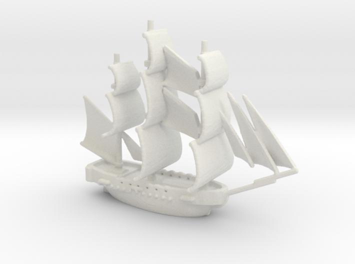HMS Surprise ~1/1000 scale 3d printed