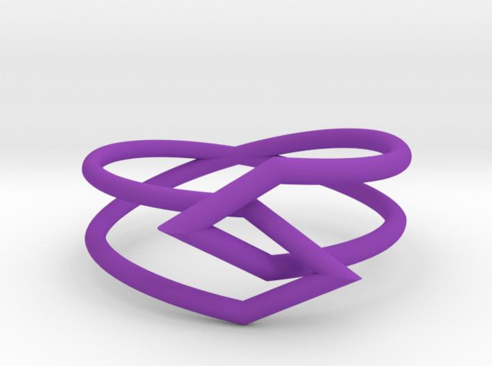 Interlocking Triangles Ring 3d printed