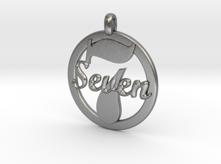 LUCKY Seven Symbol Jewelry Pendant CHARM GIFT 3d printed
