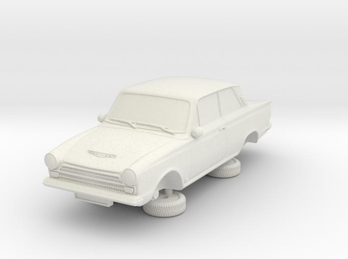 1-76 Ford Cortina Mk1 2 Door 3d printed