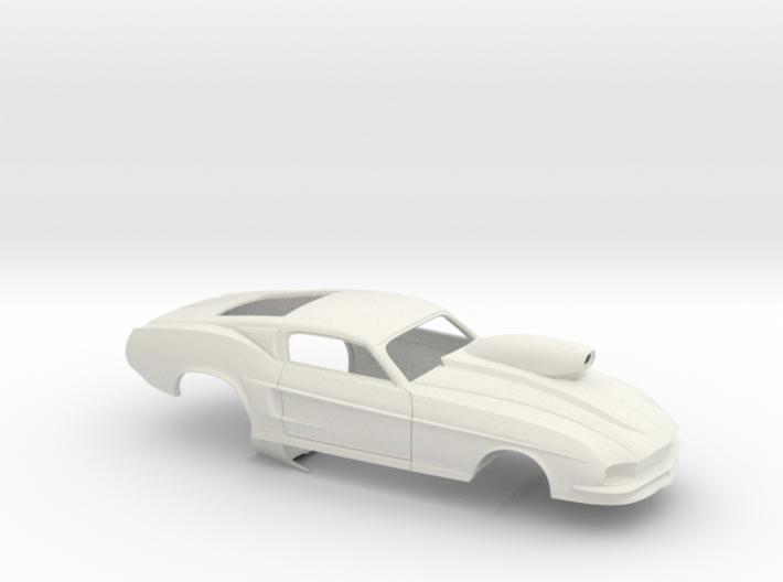 1/8 67 Pro Mod Mustang GT W Snorkel Scoop 3d printed