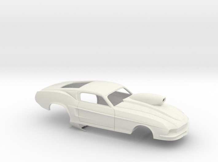 1/24 67 Pro Mod Mustang GT W Snorkel Scoop 3d printed