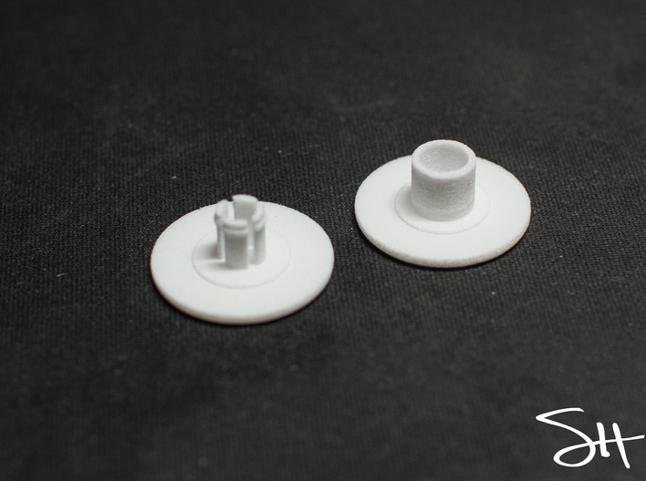 Bearing Cap for Fidget Spinner - Skateboard Size 3d printed Two Pieces