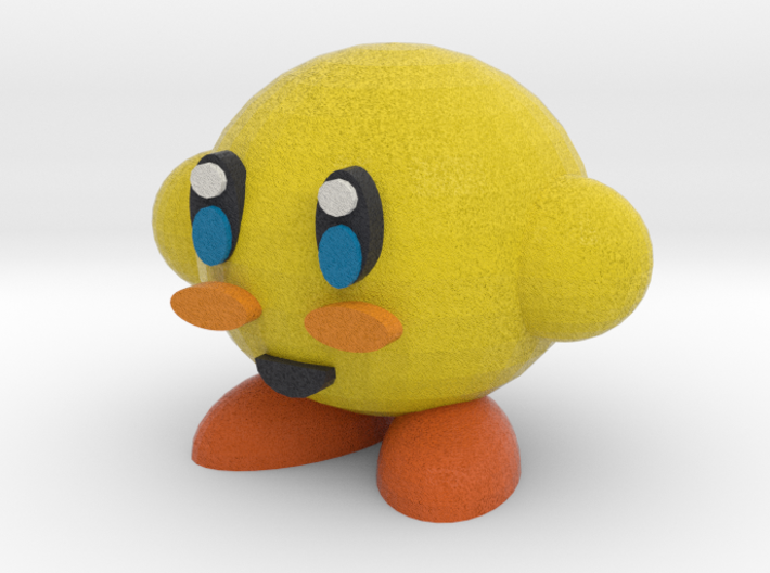 Yellow Kirby 3d printed