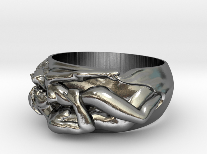Lovers Ring Sz 6.5 3d printed