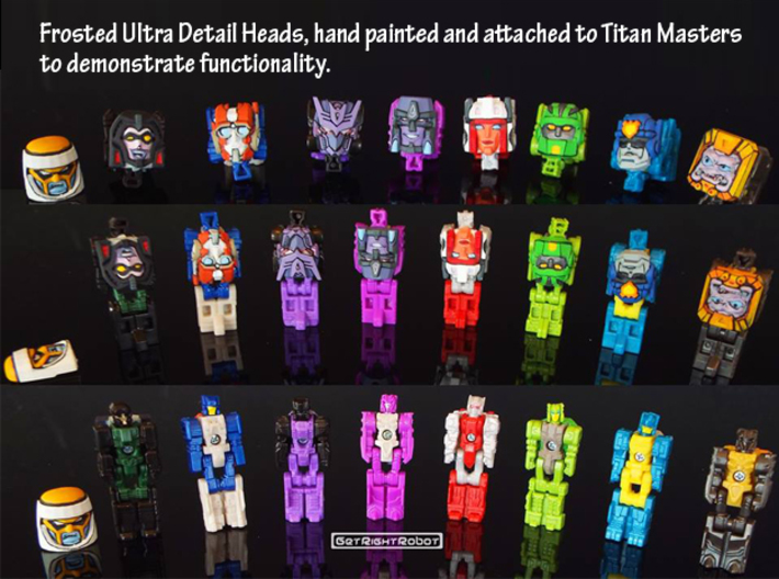 Tigatron Face (Titans Return) 3d printed FUD faces painted and attached to Titan Masters (this model not shown)